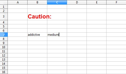 spreadsheet addiction burns statistics